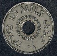 Palästina, 10 Mils 1937 - Münzen
