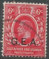 Tanganyika. 1917-21 KGV. G.E.A. Overprint. 6c Used. SG 48 - Kenya, Uganda & Tanganyika