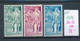 Baden  Nr. 50-52  **   (ed3586  ) Siehe Scan - Französische Zone