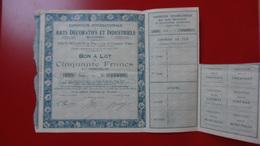 Arts Decoratifs Et Industriels Expo Internationale 1925 - Industrie
