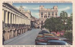 """PALACIO DE GOBIERNO, HOTEL """"MAJESTIC"""", SITUADO EN LA PLAZA DE LA INDEPENDENCIA. QUITO, ECUADOR. CIRCA 1950s CPA. - BLEUP - Ecuador"""