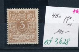 D.-Reich Nr. 45e  ** Signiert  (ed3628  ) Siehe Scan - Deutschland