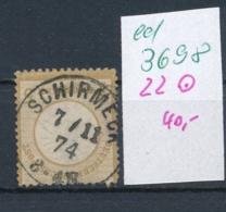 D.-Reich Nr. 22  O    (ed3698  ) Siehe Scan - Deutschland