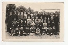 CARTE PHOTO - PLENEUF - CLASSE PRIMAIRE GARCONS - ECOLE CATHOLiQUE - 1929 - 35 - Pléneuf-Val-André