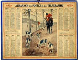 1928 - Chasse à Courre - Complet 3 Feuillets - Grand Format : 1921-40