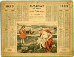 1923 - Rhône - Complet 2 Feuillets - Carte Colorée Au Crayon (voir Scan) - Grand Format : 1921-40
