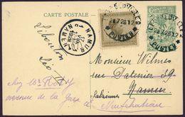 CONGO BELGE LEOPOLDVILLE 1928 Pour Namur Carte Entier Postal + Y&T 108 (1923) Infanterie - Belgisch-Kongo
