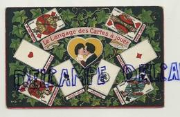 Le Langage Des Cartes à Jouer. Coeur Et Couple. Gaufrée - Cartes à Jouer