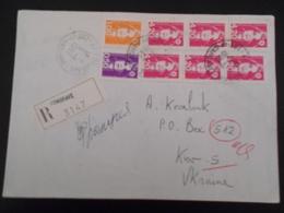 France Marianne Du Bicentenaire , Lettre Recommandee De Fongrave 1993 Pour Kiev - 1989-96 Marianne Du Bicentenaire
