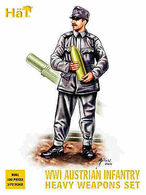 Hät Industrie Inc. 8081 WWI Austrian Infantry Heavy Weapons Set. - Small Figures