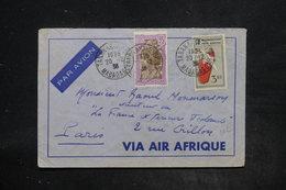 MADAGASCAR - Affranchissement Plaisant De Tananarive Sur Enveloppe En 1938 Pour Paris - L 26200 - Madagascar (1889-1960)