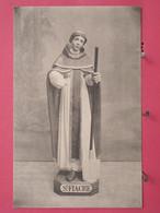 A Identifier - Statue De Saint Fiacre Avec Sa Pelle - Patron Des Jardiniers - Scans Recto-verso - Saints