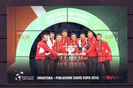 Croatia 2019 Y Sport Tennis Davis Cup Winners Block MNH - Croatie