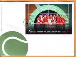 Croatia 2019 Y FDC Sport Tennis Davis Cup Winners Postmark Zagreb 28.03. - Croatie