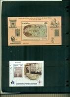 ESPAGNE EXFILNA 2000- CARTE AMERIQUE DU NORD 2 BF NEUFS A PARTIR DE 0.75 EUROS - Blocs & Feuillets