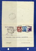 ##(DAN194)-Italy 1948-Biglietto Postale L.4 Filagrano B41 Con Francobolli Aggiunti Da Badia Polesine Per Papozze-Rovigo - 6. 1946-.. Repubblica