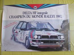 Affiche De Concessionnaire Lancia Delta HF Intégrale Martini Juha Kankkunen Champion Du Monde Rallye 1987 - Posters