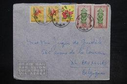 CONGO BELGE - Affranchissement Plaisant De Kamina Sur Enveloppe En 1958 Pour Bruxelles - L 26207 - 1947-60: Lettres
