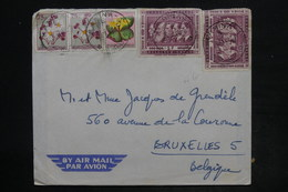 CONGO BELGE - Affranchissement Plaisant De Kamina Sur Enveloppe Pour Bruxelles - L 26208 - 1947-60: Lettres