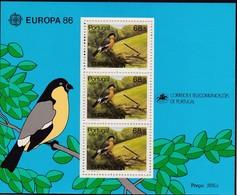 1986, Azoren, 376 Block 7, Europa: Natur- Und Umweltschutz. MNH ** - Azores