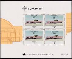 1987, Azoren, 383 Block 8, Europa: Natur- Und Umweltschutz. MNH ** - Azores