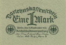 Germany P61a, 1 Mark, Reichsschuldenverwaltung (State Loan), 1922, Uncirculated - [ 3] 1918-1933 : Weimar Republic