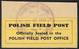 POLOGNE  1943 -    Polish Field Post Office - - 1939-44: II Guerra Mondiale