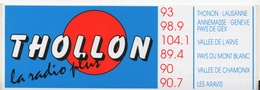 Autocollant Thollon La Radio Plus (Thonon, Annemasse, Chamonix, Vallée De L'Arve, Aravis) - Autocollants