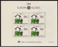 1988, Azoren, 390b Block 9, Europa: Transport- Und Kommunikationsmittel. MNH ** - Azores