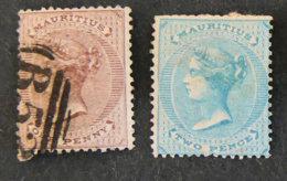 ILE MAURICE - MAURITIUS - 1863 - YT 31 Et 32 - EFFIGIE VICTORIA - Mauritius (1968-...)