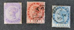 ILE MAURICE - MAURITIUS - 1893 - YT 83 à 85 - EFFIGIE VICTORIA - Mauritius (1968-...)