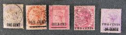 ILE MAURICE - MAURITIUS - 1898 - YT 76 à 79 Et 82  - EFFIGIE VICTORIA - Mauritius (1968-...)