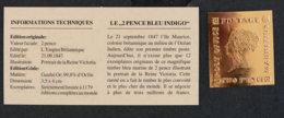 ILE MAURICE - MAURITIUS - REPRODUCTION EN OR FIN DU 2 PENCE BLEU INDIGO - Mauritius (1968-...)