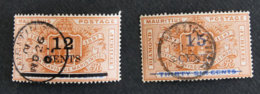 ILE MAURICE - MAURITIUS - 1899 - YT 96 Et 97 - DIAMOND JUBILEE - Mauritius (1968-...)