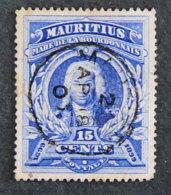 ILE MAURICE - MAURITIUS - 1899 - YT 98 - MAHE DE LA BOURDONNAIS - Maurice (1968-...)