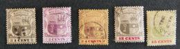 ILE MAURICE - MAURITIUS - 1899 - YT 99 / 100 / 101 / 103 / 104 - ARMOIRIES - Mauritius (1968-...)