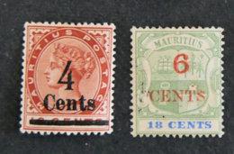 ILE MAURICE - MAURITIUS - 1899 - YT 93 Et 94 - ARMOIRIES - Mauritius (1968-...)