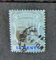 ILE MAURICE - MAURITIUS - 1902 - YT 117 - ARMOIRIES - Mauritius (1968-...)