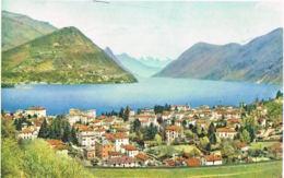 LUGANO -PARADISO- Tessin - Viste Verso Porlezza - Belles Flammes Attenzione Ciclista + Exposition Peruvienne 1958- - TI Tessin