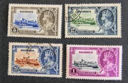 ILE MAURICE - MAURITIUS - 1935 - YT 194 à 197  -jubile Georges V - Mauritius (1968-...)