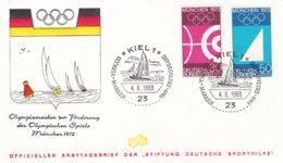 Germany FDC 1969 München Olympic Games - Kiel (DD1-17) - Estate 1972: Monaco