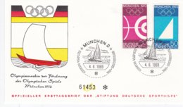 Germany FDC 1969 München Olympic Games - München (DD1-17) - Estate 1972: Monaco