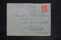 FRANCE - Type Semeuse Perforé Sur Enveloppe De Nice Pour Bordeaux En 1928 - L 26212 - Perforés