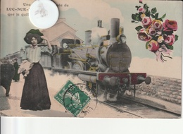 14 -Très Belle Carte Postale Ancienne De  Une Aimable Pensée De Luc Sur Mer - Luc Sur Mer