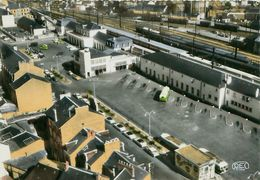 Cpsm CHATEAUROUX 36 La Gare Routière Et La Gare SNCF - Vue Aérienne - Chateauroux