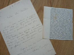Charles GAUTIER (1831-1891) SCULPTEUR élève Jouffroy. Fontaines COMEDIE FRANCAISE. Autographe - Autographes