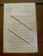 6 Bladzijden  In Franse Taal A Toutes Les Autorités Militaires  1920 - Documents
