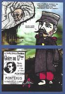 CPM Clemenceau Puzzle De 2 Cartes Jihel Tirage Signé 30 Exemplaires Numérotés Signés Araignée Viticole 1907 - Characters