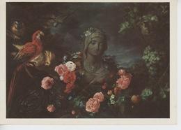 "Jean-David De Heem 1606/1684 ""Vierge Et Guirlande (cp Vierge) Perroquet Ara - Dauphins"