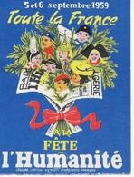 Souscription Nationale Pour La Presse Communiste Et Démocratique, (bon De 200 Fr.)  Fête De L'Humanité 1959. PCF - Toegangskaarten
